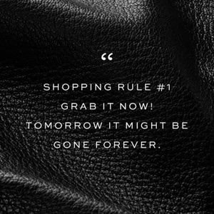 Shopping rule #1